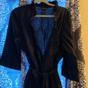 Lane Bryant Faux Wrap Dress Black